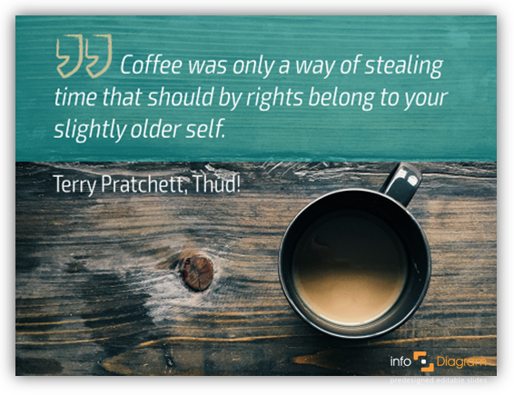 coffee quote slide ppt graphics terry pratchett