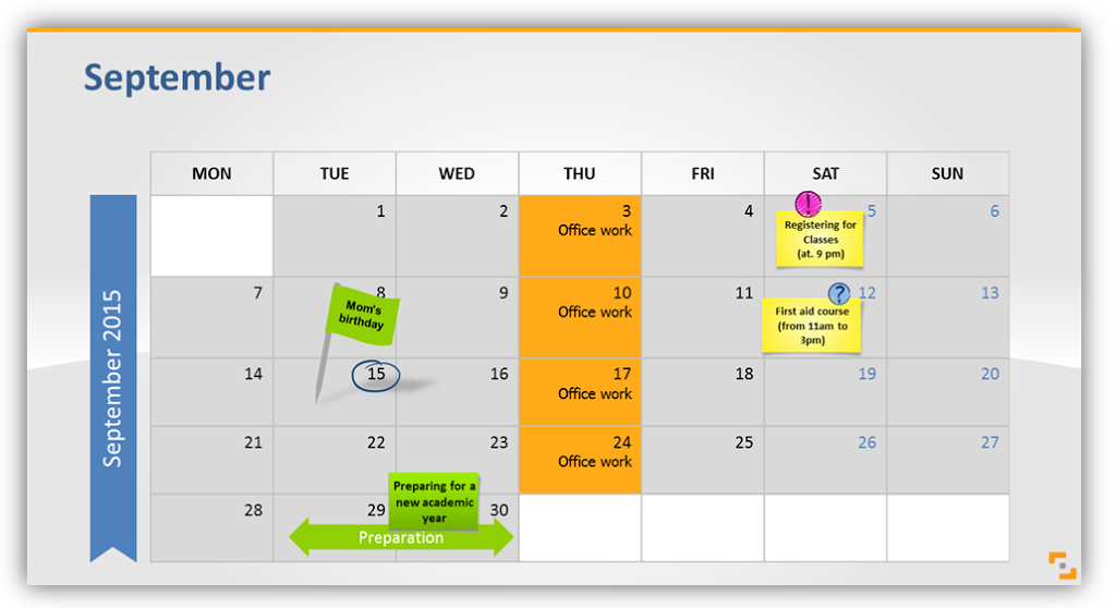 Calendar Art For Powerpoint : Planning your year with slide calendars graphics infodiagram