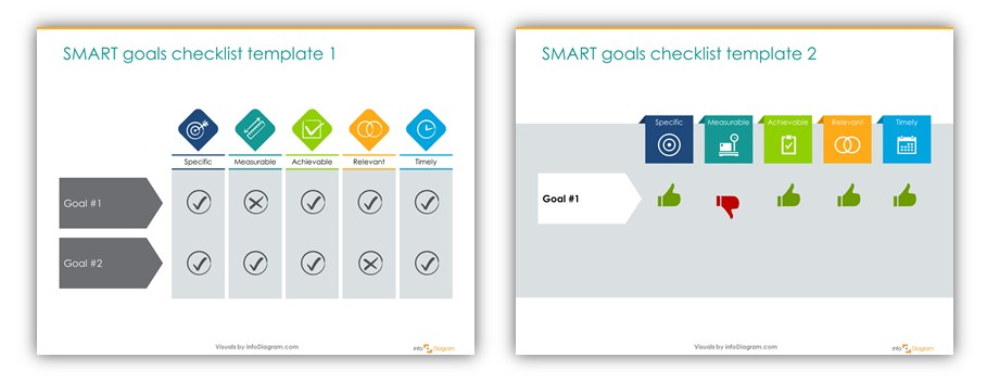 smart goals checklist ppt icons