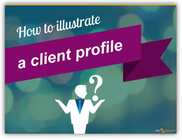 client profile illustrate icon ppt slide