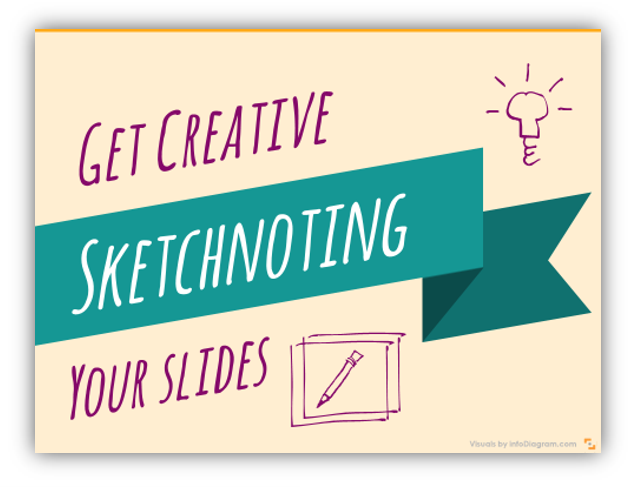 creative sketchnoting presentation slide in powerpoint