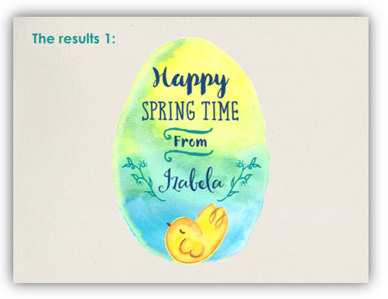 spring easter card clipart ppt