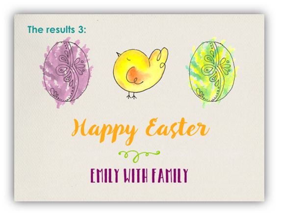 Easter card powerpoint graphics hand drawn