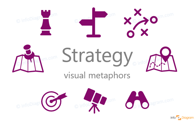 modern strategy illustration icons ppt flat