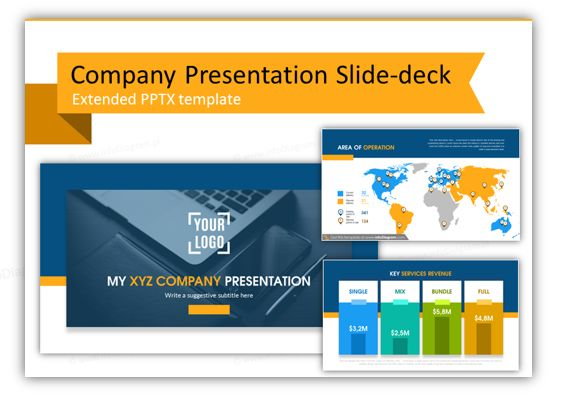 company presentation template and slide deck