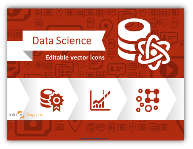 data science icon vector powerpoint