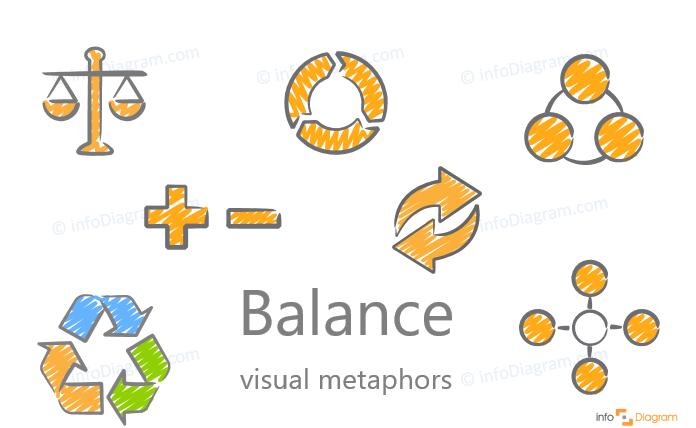 balance comparison concept visualization scribble ppt