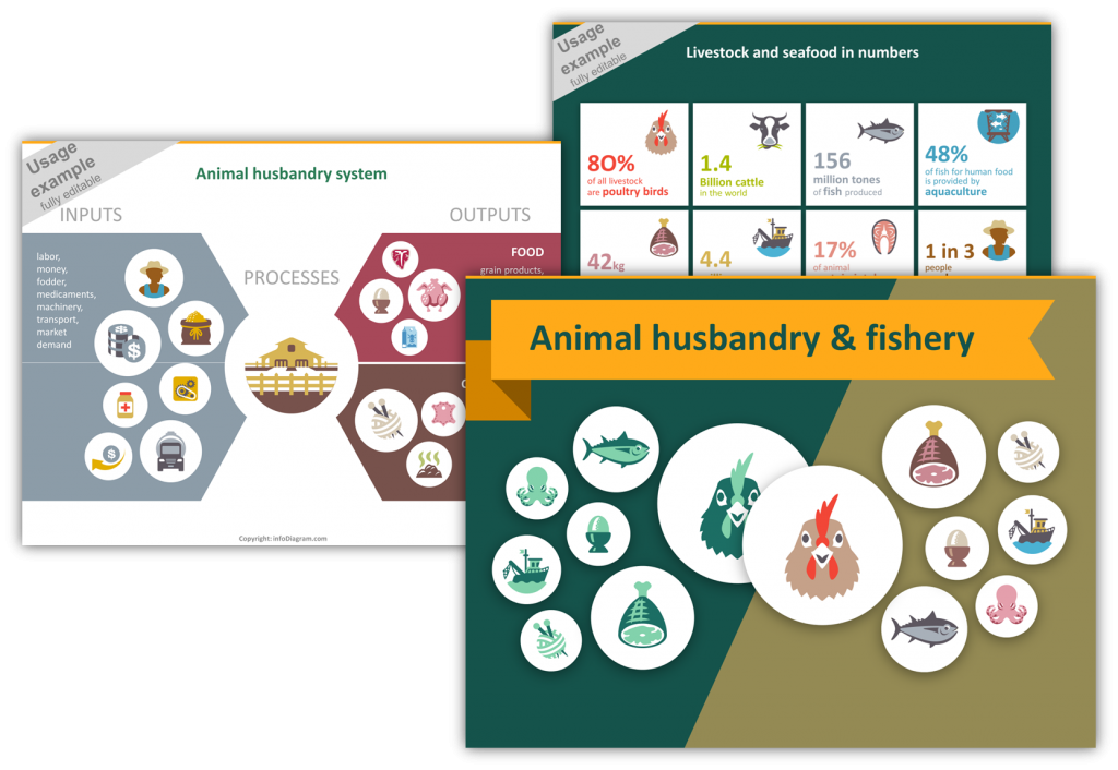 animal husbandry icons overview