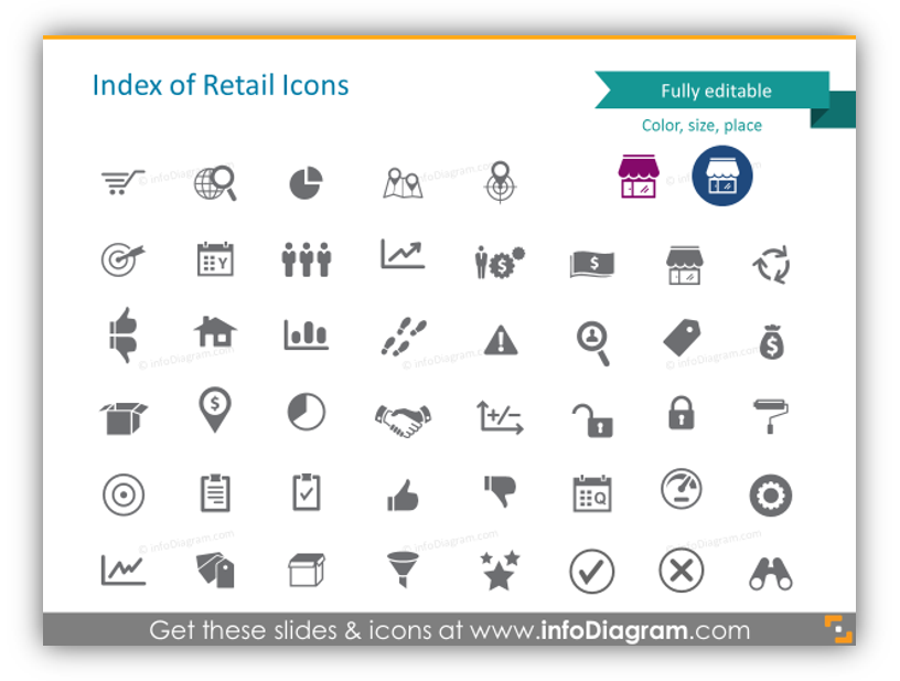 retail icon library powerpoint vector