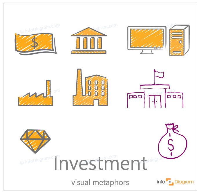 investment scribble icon concept creative