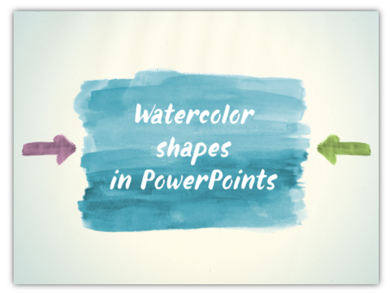 watercolor visuals Aquarelle ppt