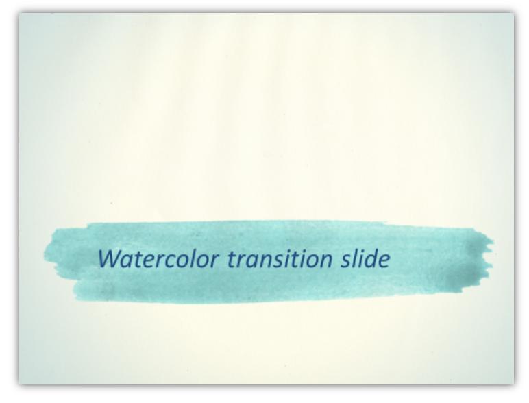 Watercolor Aquarelle transition slide