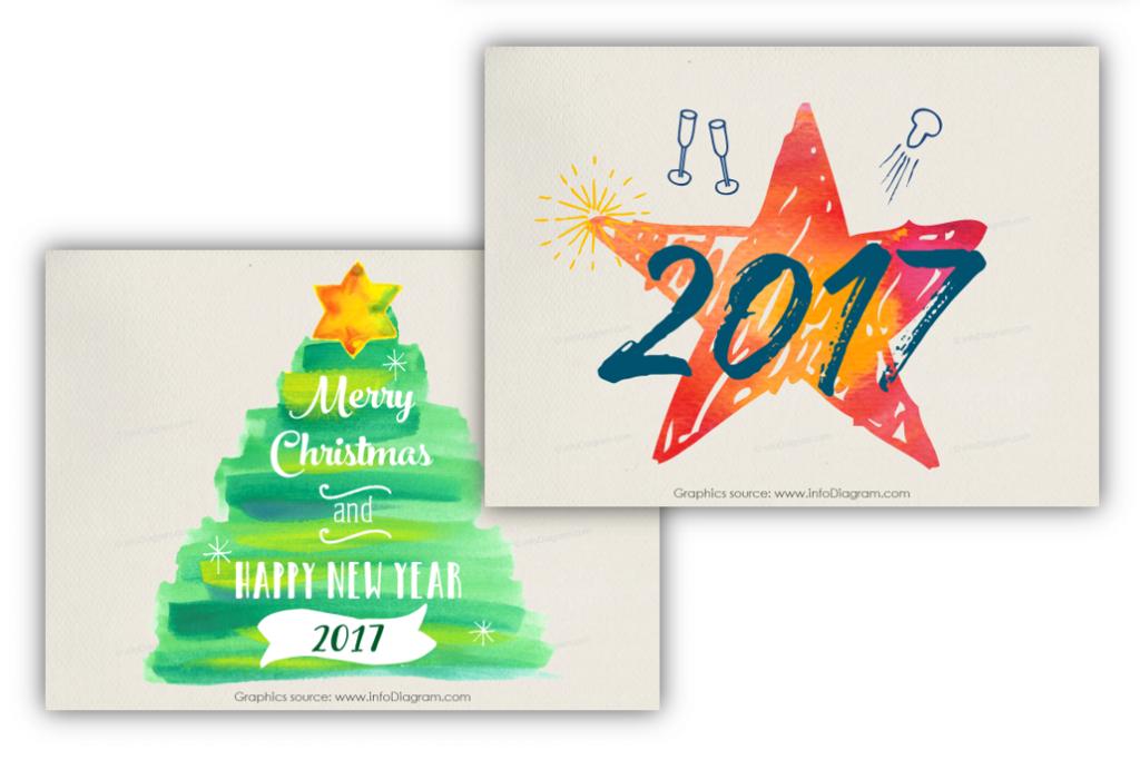 creative xmas tree hand drawn 2017 star powerpoint slide