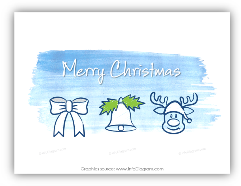 merry christmas card scribble ppt