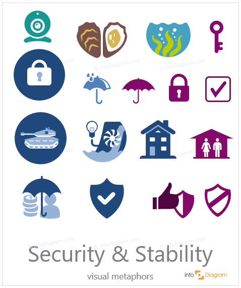 security simple flat icons ppt