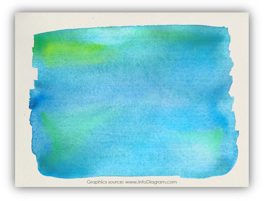 watercolor stripe card powerpoint
