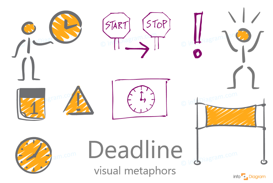 deadline icon creative scribble style