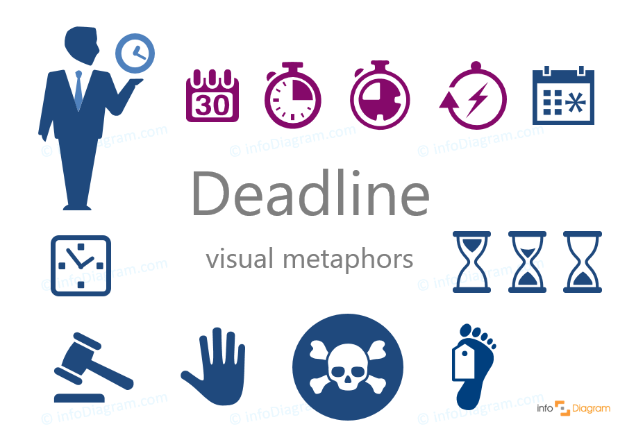deadline icon flat simple powerpoint