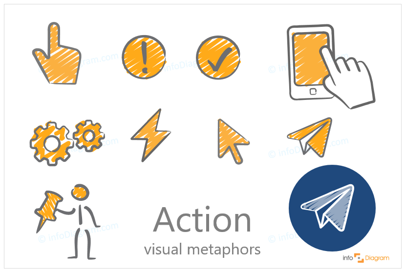 action ppt creative icon scribble