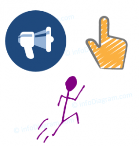 action ppt icon title hand person