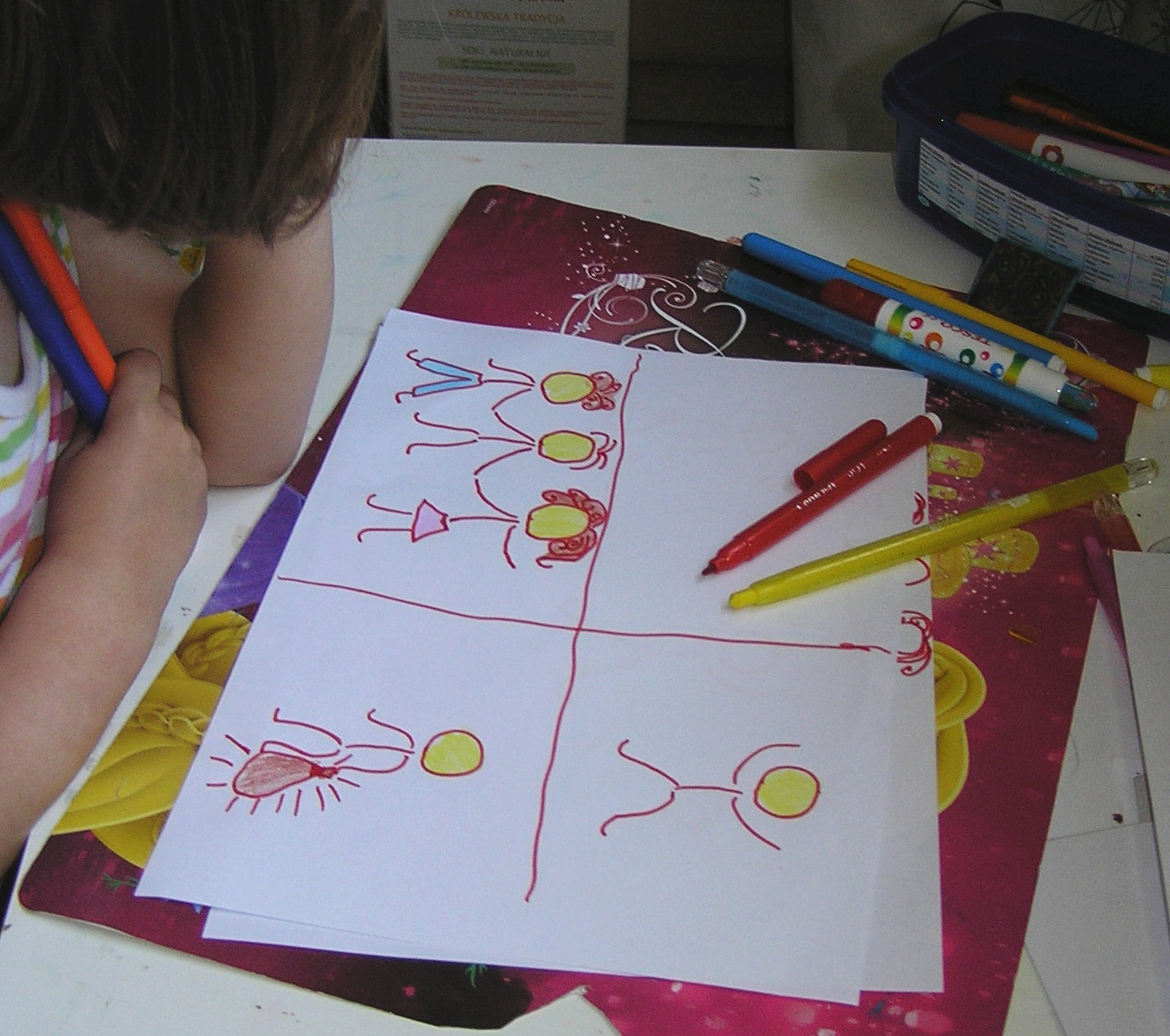 kids drawing icons