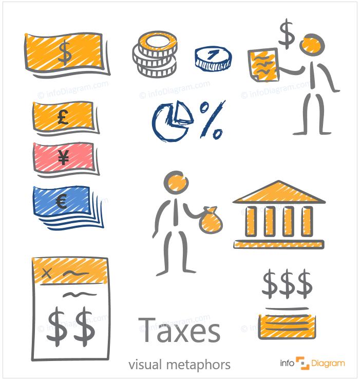 taxess ppt handwritten creative symbols