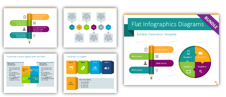 flat simple infographics ppt