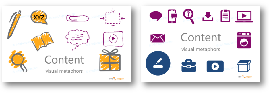 content marketing concept ppt creative flat icons
