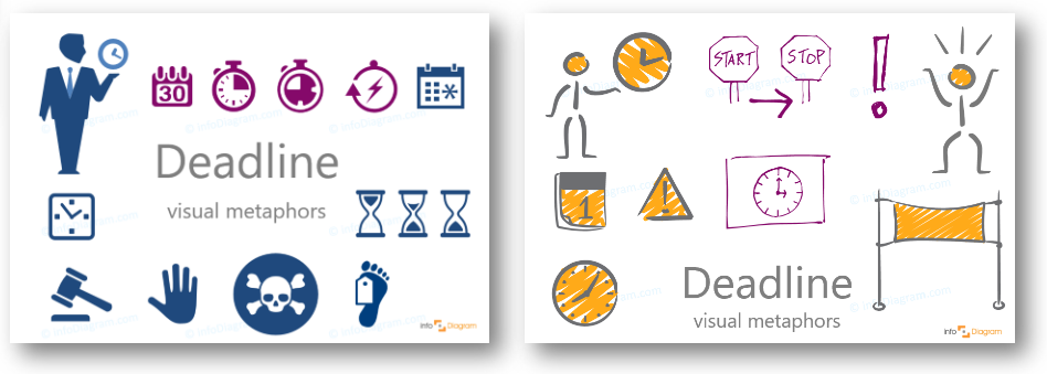 deadline creative and flat symbols powerpoint