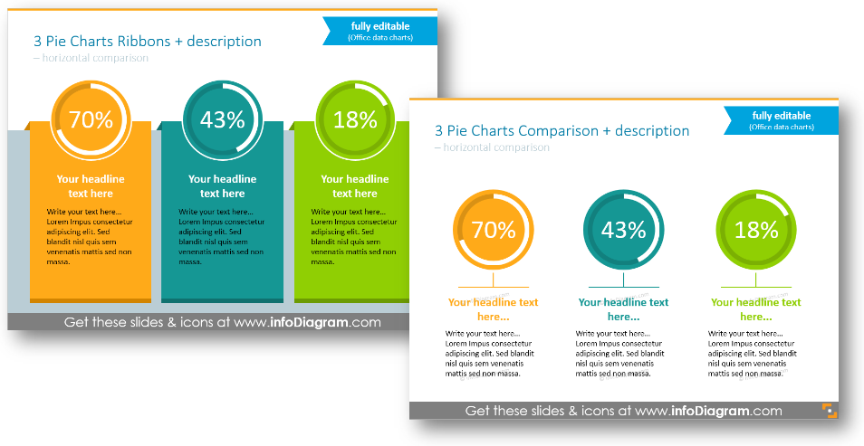 infographics pie chart description kpi