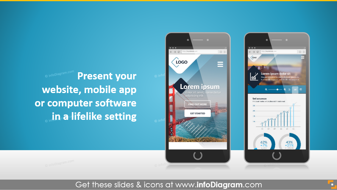 screen display present website app ppt