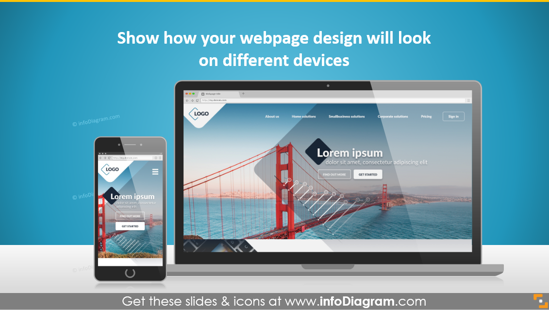 how to make website or app presentation awesome screen mock ups