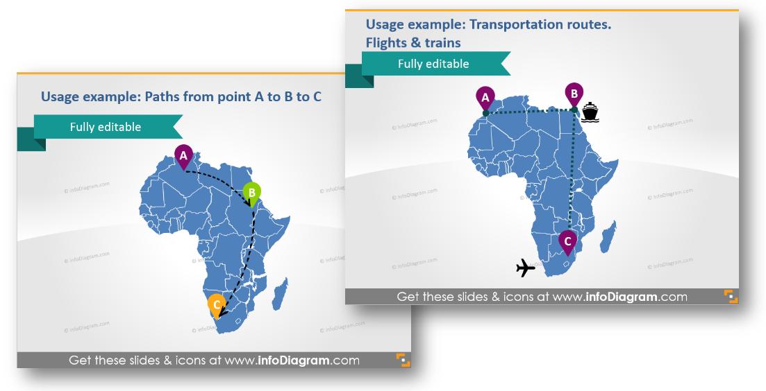 logistics transportation routes powerpoint