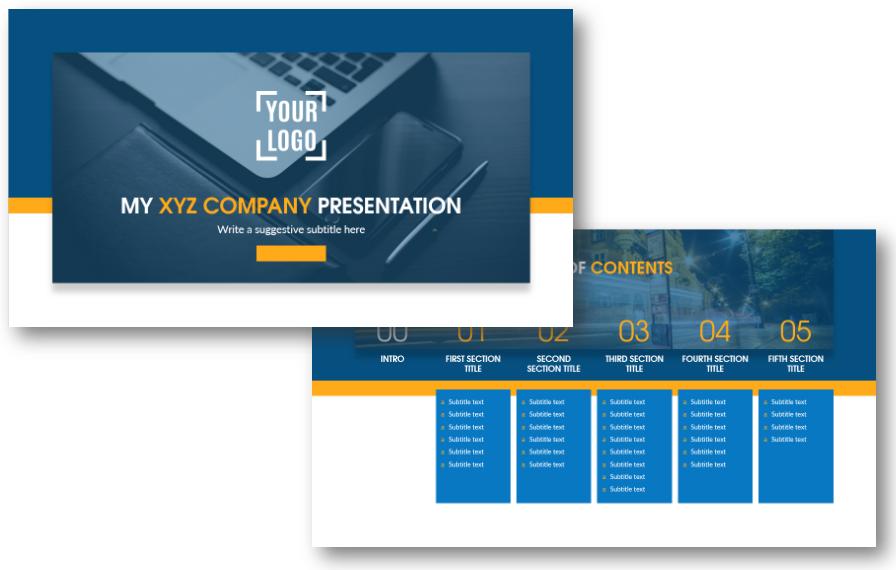 title content agenda ppt company presentation