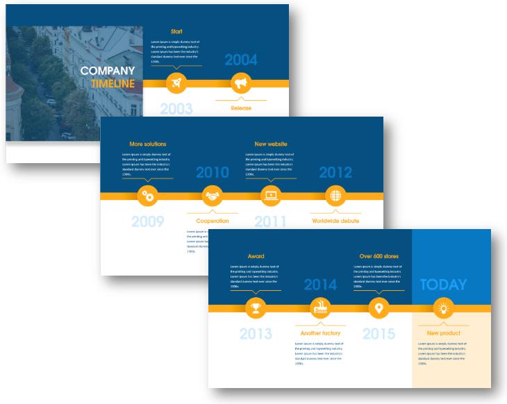 timeline history major milestones company presentation