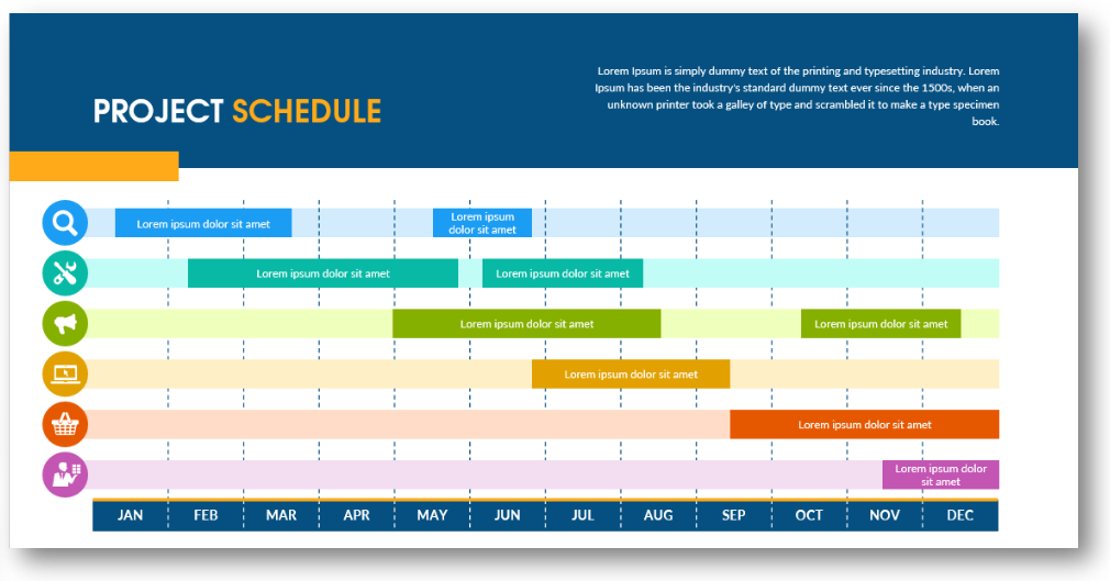 project calendar timeline powerpoint