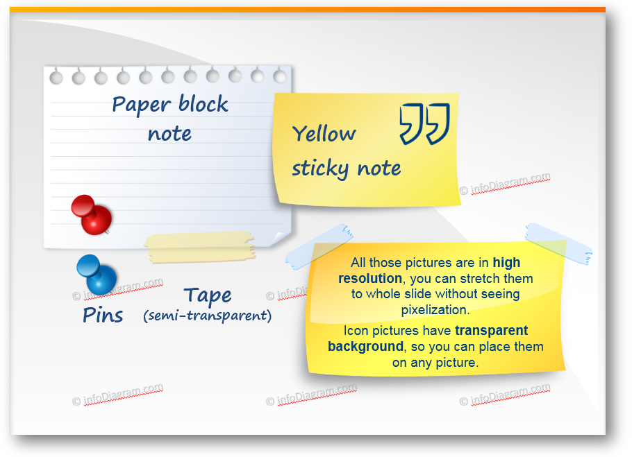 using post it note effect in a presentation blog creative