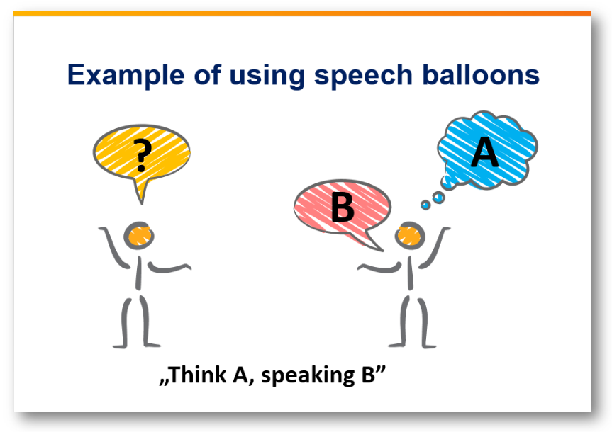 speech balloons scribble creative dialogue ppt