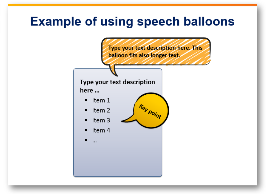 speech balloon key point main message powerpoint