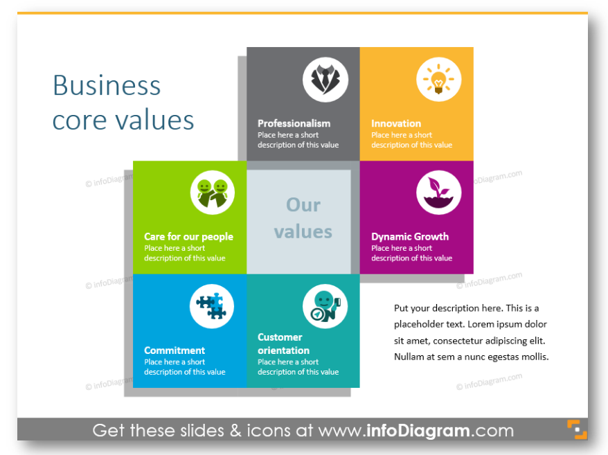 Business core values company culture