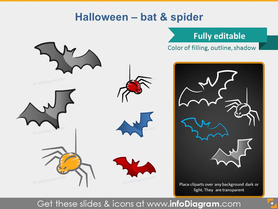 halloween bat spider powerpoint