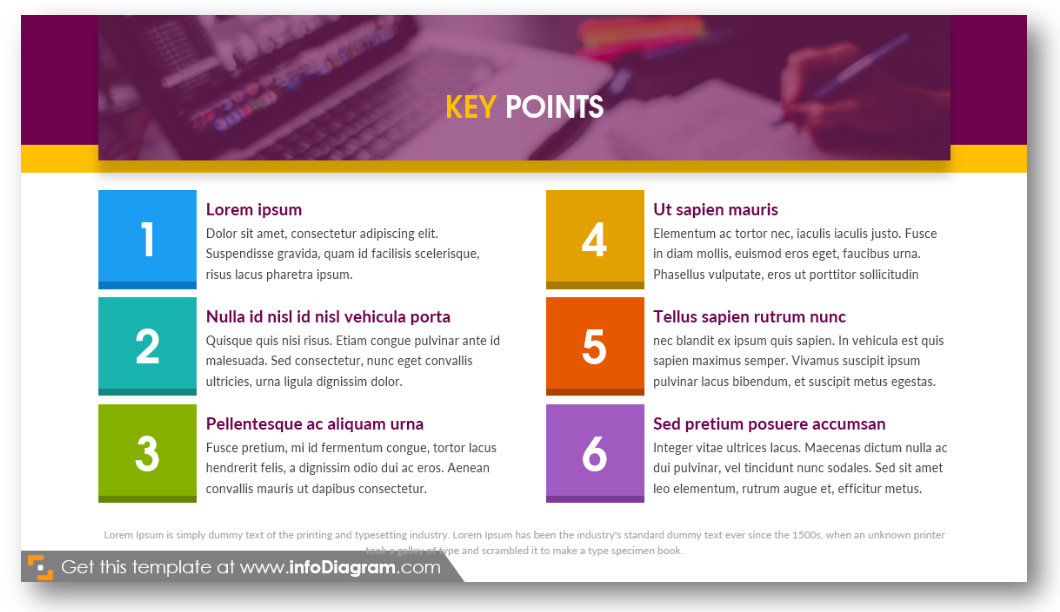 key points product features