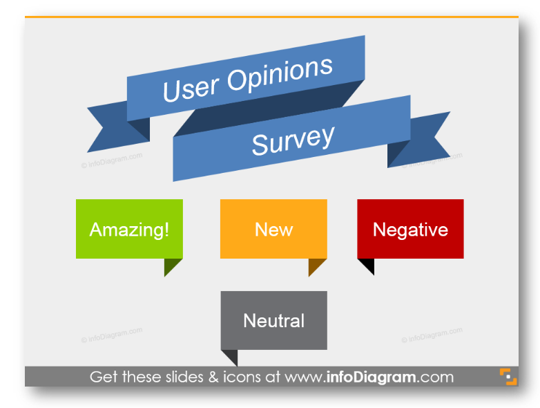 customer survey opinions flat banner ppt