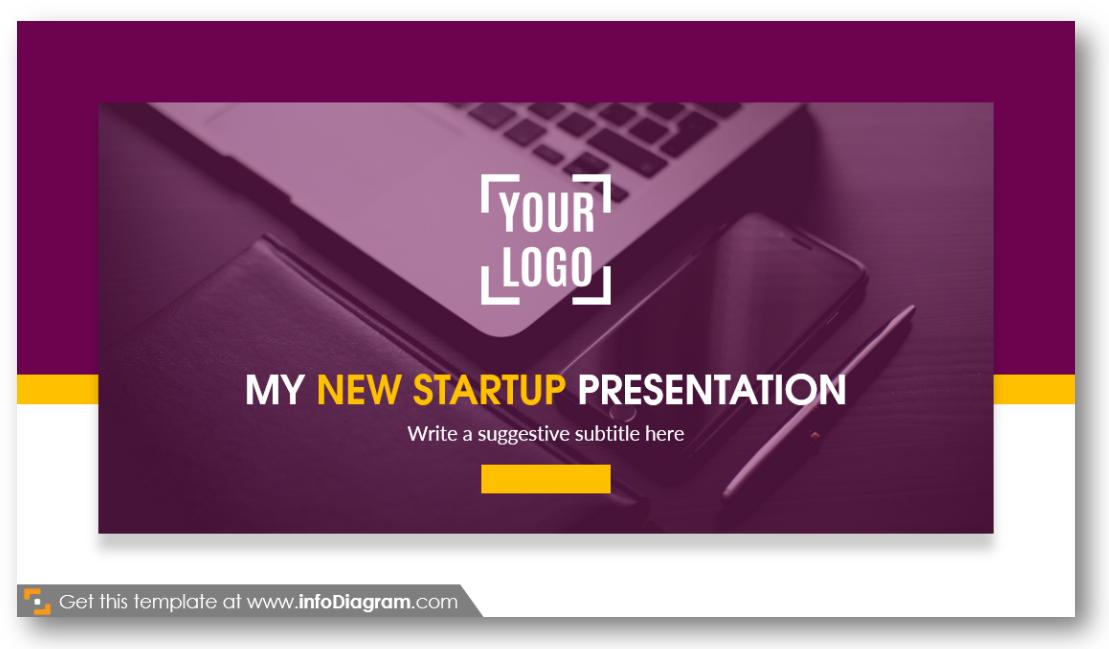 start-up presentation title slide logo
