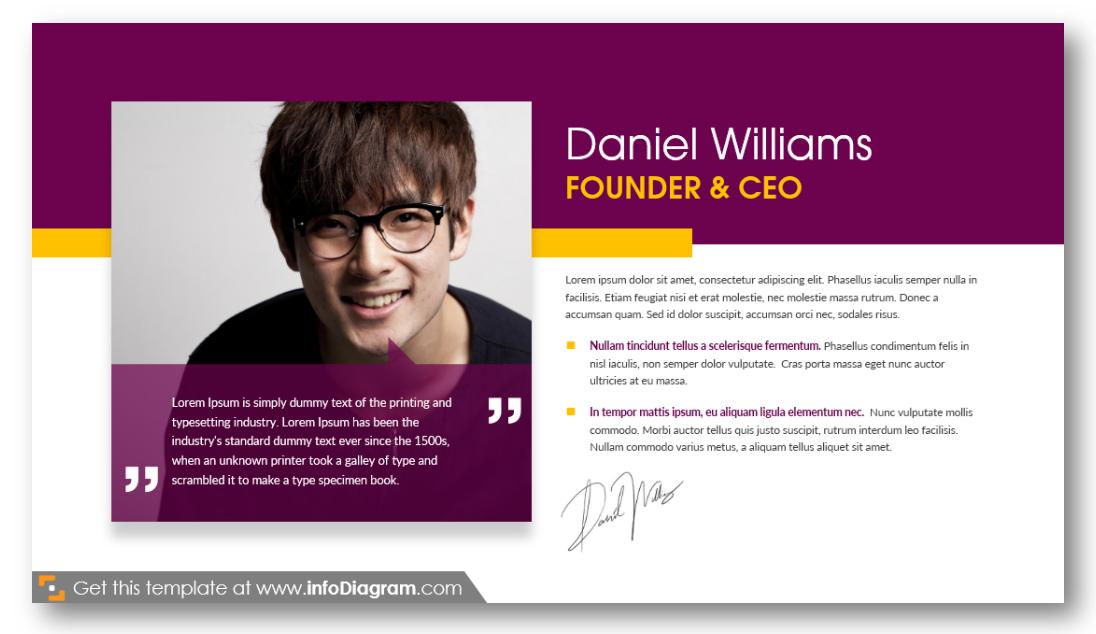 CEO founder ppt slide start-up presentation