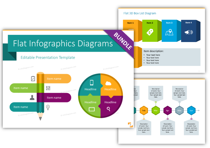Flat Infographic Templates Design ppt