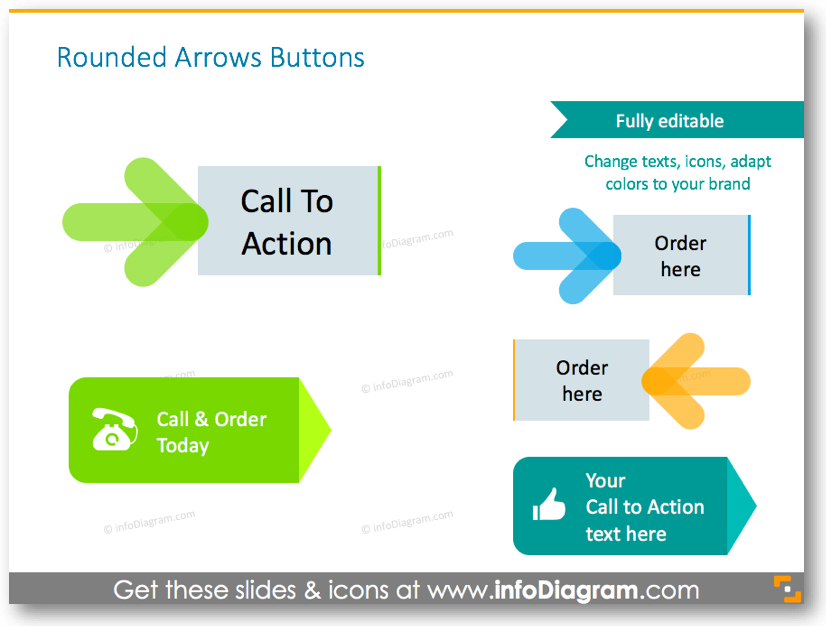 Rounded arrows buttons