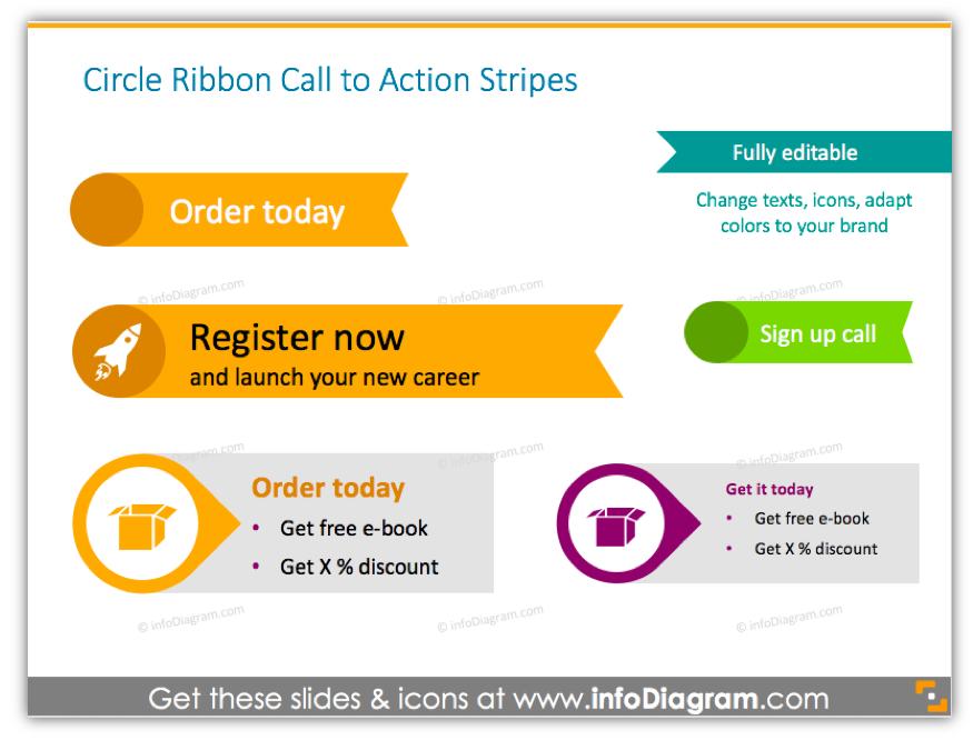 creative call to action button