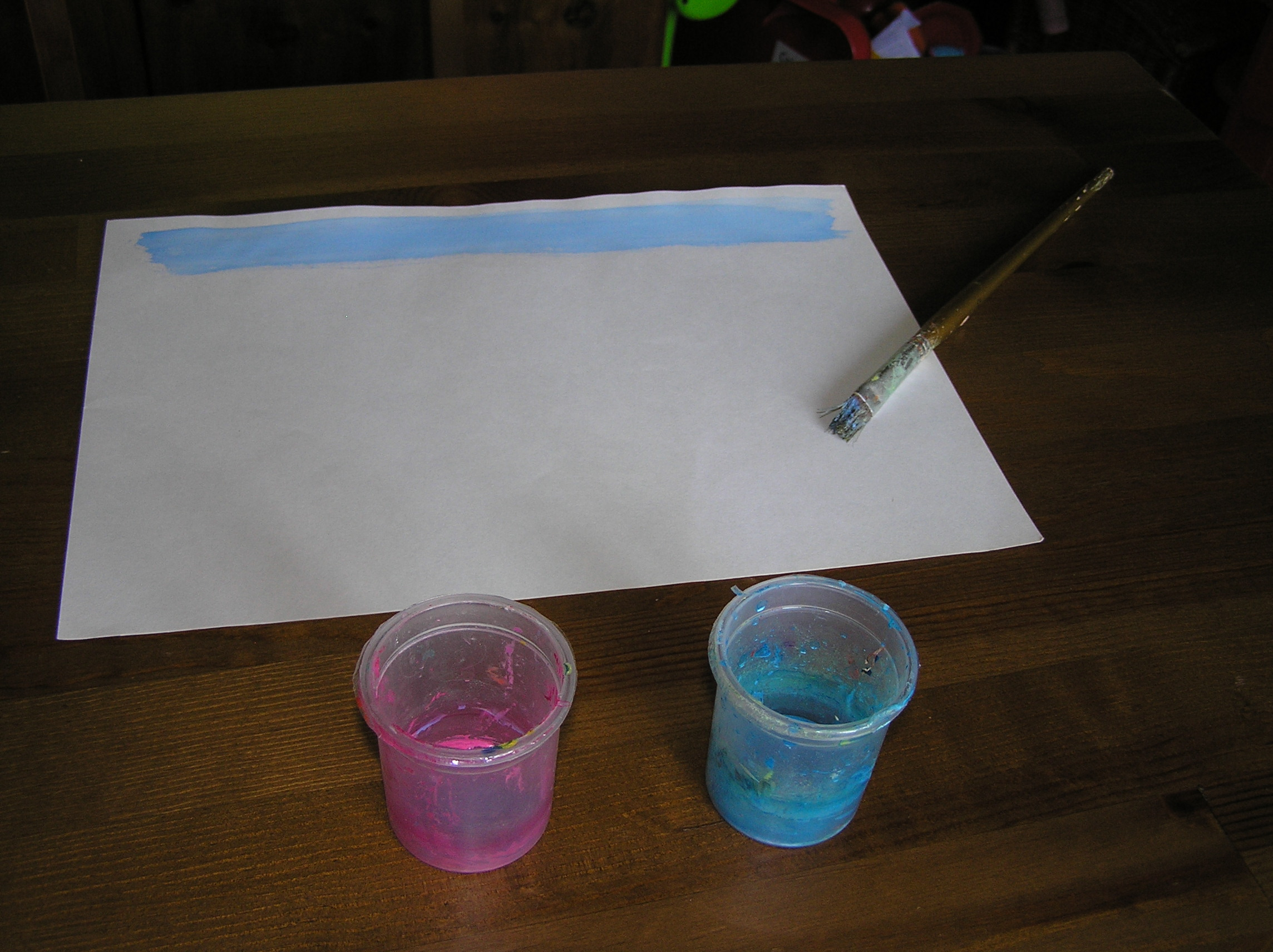drawing watercolor slide stripes