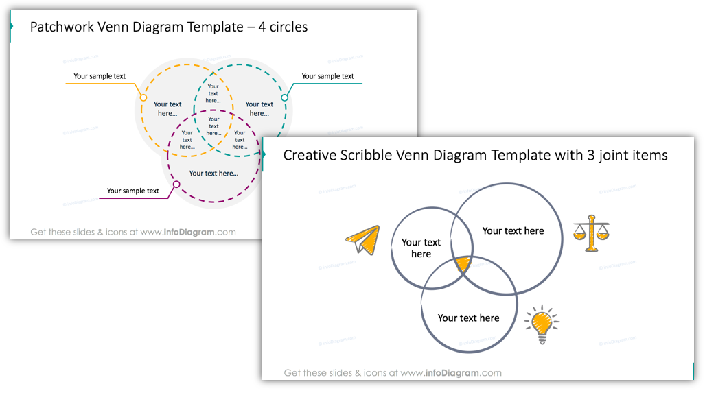 Design Ideas For Illustrating Venn Intersection Diagrams In